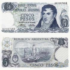 ARGENTINA 5 pesos ND (1974-76) P-294 UNC!!! - bancnota america