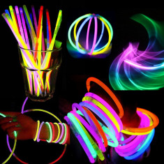 Set 100 Betisoare bratari luminoase Glow Sticks colorate