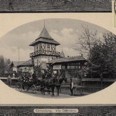 CAMPULUNG, VILA CALENDERU, TRASURA, TCV, CIRCULATA - Carte Postala Muntenia 1904-1918, Fotografie
