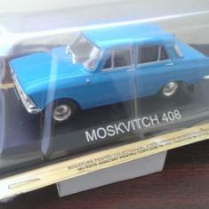 Macheta metal DeAgostini Moskvitch 408  4 faruri +Masini de Legenda Bulgaria