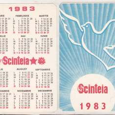 bnk cld Calendar de buzunar Scinteia 1983