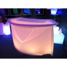 Masa cu LED pentru bar cu lumina interschimbabila - Mobila HORECA
