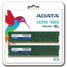 Memorie A-Data AD3U1333W8G9-2, DDR3, 2 x 8 GB, 1333 MHz, CL9, kit, retail - Memorie RAM