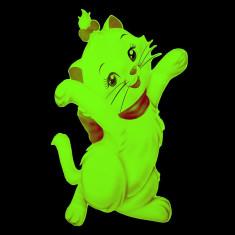 Sticker decorativ fosforescent pisicuta Marie