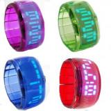 Ceas cu LED tip bratara elastica - Ceas led
