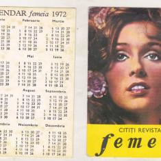 Bnk cld Calendar de buzunar Revista Femeia 1972
