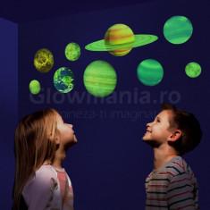 Sticker decorativ glow model sistem solar pentru camera copilului