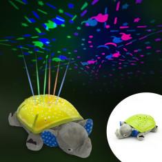 Elefant cu proiectie stelute multicolore