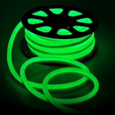 Furtun luminos Neon flexibil verde - Banda LED