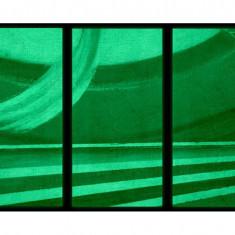 Set tablou 3 piese fosforescent Curcubeu abstract - Tablou canvas