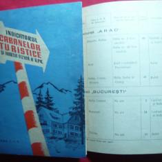 Indicatorul Cabanelor Turistice si Harta Fizica a RPR  -1958