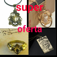 Pandantiv / medalion Harry Potter + inel Harry Potter oferta 3 medalioane + inel - Jucarie interactiva