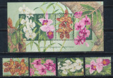 1998 Australia serie si colita nestampilate flori Orhidee nominal 7 austr. $