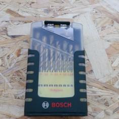 Bosch Set 19 spirale/burghie HSS-TIN, Metal - Trusa scule auto