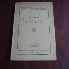 PLATON  -  TEETET  ( interbelica, foarte rara, file netaiate ! )  *
