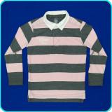DE FIRMA → Bluza cu dungi gri-roz, bumbac, ZARA → baieti   4—5 ani   104—110 cm