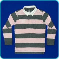 DE FIRMA → Bluza cu dungi gri-roz, bumbac, ZARA → baieti | 4—5 ani | 104—110 cm, Alta