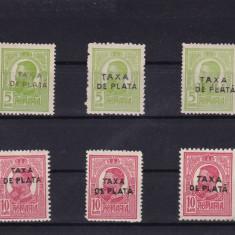 ROMANIA 1918, 3 SERII TAXA DE PLATA, MNH, LOT 1 RO - Timbre Romania, Nestampilat