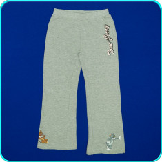 FRUMOSI→ Pantaloni trening, bumbac vatuit, TOM & JERRY → fete | 5—6 ani | 116 cm, Alta, Bleu