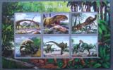 TOGO 2016 - DINOZAURI, 1 M/SH NEDANTELATA, NEOBLIT, POSTA PRIVATA - PP 1358C