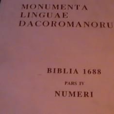 MONUMENTA LINGUAE DACOROMANORUM-5 VOL- BIBLIA DE LA 1688-