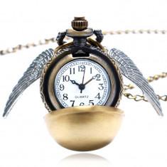 Ceas Pandantiv Lantisor Casual Harry Potter Quidditch Golden Snitch Pocket