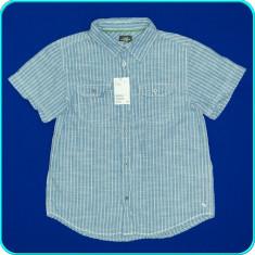 NOUA, DE FIRMA _ Camasa maneci scurte, moderna, H&M _ baieti | 10 - 11 ani | 146, Marime: Alta, Culoare: Bleu
