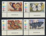Australia Insulele Norfolk serie neuzata fluturi colt de coala 4 timbre