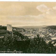 1266 - BRASOV, Panorama - old postcard - used - 1916 - Carte Postala Transilvania 1904-1918, Circulata, Printata