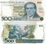BRAZILIA 500 cruzados ND 1987 P-212c UNC!!!