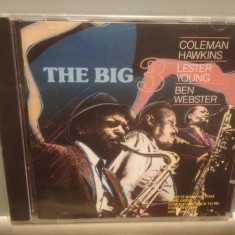 THE BIG 3 cu : C.HAWKINS/L.YOUNG/B.WEBSTER (1987/SONY/UK) - ORIGINAL/NOU/SIGILAT - Muzica Jazz sony music, CD