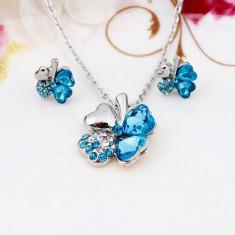 Cristal Accesorii de cristal cu patru frunze colier cercei Seturi de bijuterii