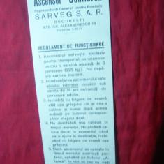 Carton Reclama Ascensor Schlieren - interbelica