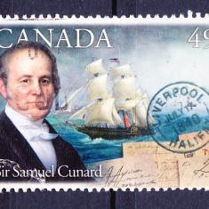 Timbre CANADA 2004 = SAMUEL CUNARD - PIONER TRANSATLANTIC - Timbre straine, Stampilat