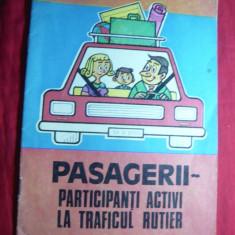 Brosura auto - Pasagerii-participanti la traficul rutier -Ed. Minister Interne