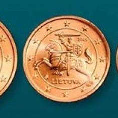 LITUANIA 2015 mini SET monede euro (1c, 2c, 5c) - UNC, Europa, Cupru-Nichel