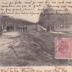PLOIESTI , BULEVARDUL INDEPENDENTEI  , CLASICA , TCV , CIRCULATA FEB.1905, Printata