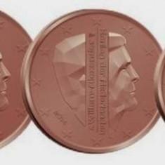 OLANDA 2015 mini SET monede euro (1c, 2c, 5c) - UNC, Europa, Cupru-Nichel