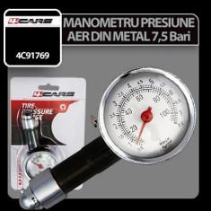 Manometru presiune aer din metal 7, 5 Bar 4Cars - CRD-4C91769 - Manometru presiune roti Auto