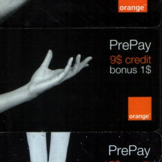 3 cartele Orange prepay 2006-7-8 - Cartela telefonica romaneasca