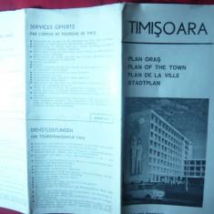 Harta orasului Timisoara, anii '60 - Harta Romaniei