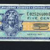 Sua 5 Cents Military Payment Certificate [64]