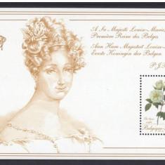 Belgia, flori, trandafiri, seria si colita, 1988, MNH - Timbre straine, Nestampilat