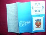 Harta Turistica RSR a  Municipiului Suceava cu lista obiective turistice