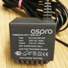 Alimentator Incarcator Aspro 9, 5V AC 300mA Model M-CA35-095130