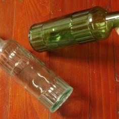Lot 2 bucati - Sticla din perioada comunista / model deosebit !!!