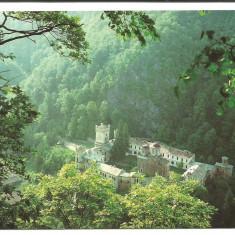 @carte postala(ilustrata)-GORJ-Manastirea Tismana - Carte Postala Oltenia dupa 1918, Necirculata, Printata