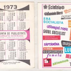 bnk cld Calendar de buzunar - 1973 - Editura Scanteia