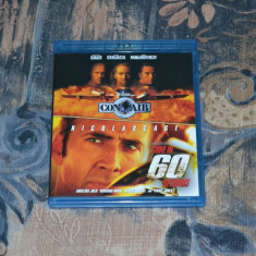 Film - Con Air / Gone In 60 Seconds [2 filme Blu-Ray], Release UK Original - Film actiune disney pictures, Engleza