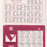 Bnk cld Calendar de buzunar - Magazinul Victoria Bucuresti 1984 - Calendar colectie